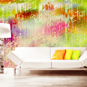 Abstract Art Painted: Definitive striations, enhanced with abstract combination of colours.