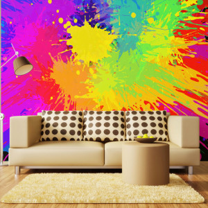 Rave: Funky range of colours in disorganized splatter, givng it a hallucinatory feel