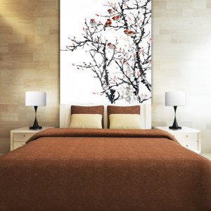 Classic Trees: Adorn your walls with classical oriental trees in contrast hues of colour.